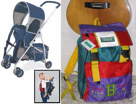 picture of stroller model and of Benetton backpack