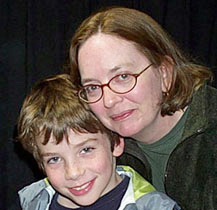 Laurel with her son.